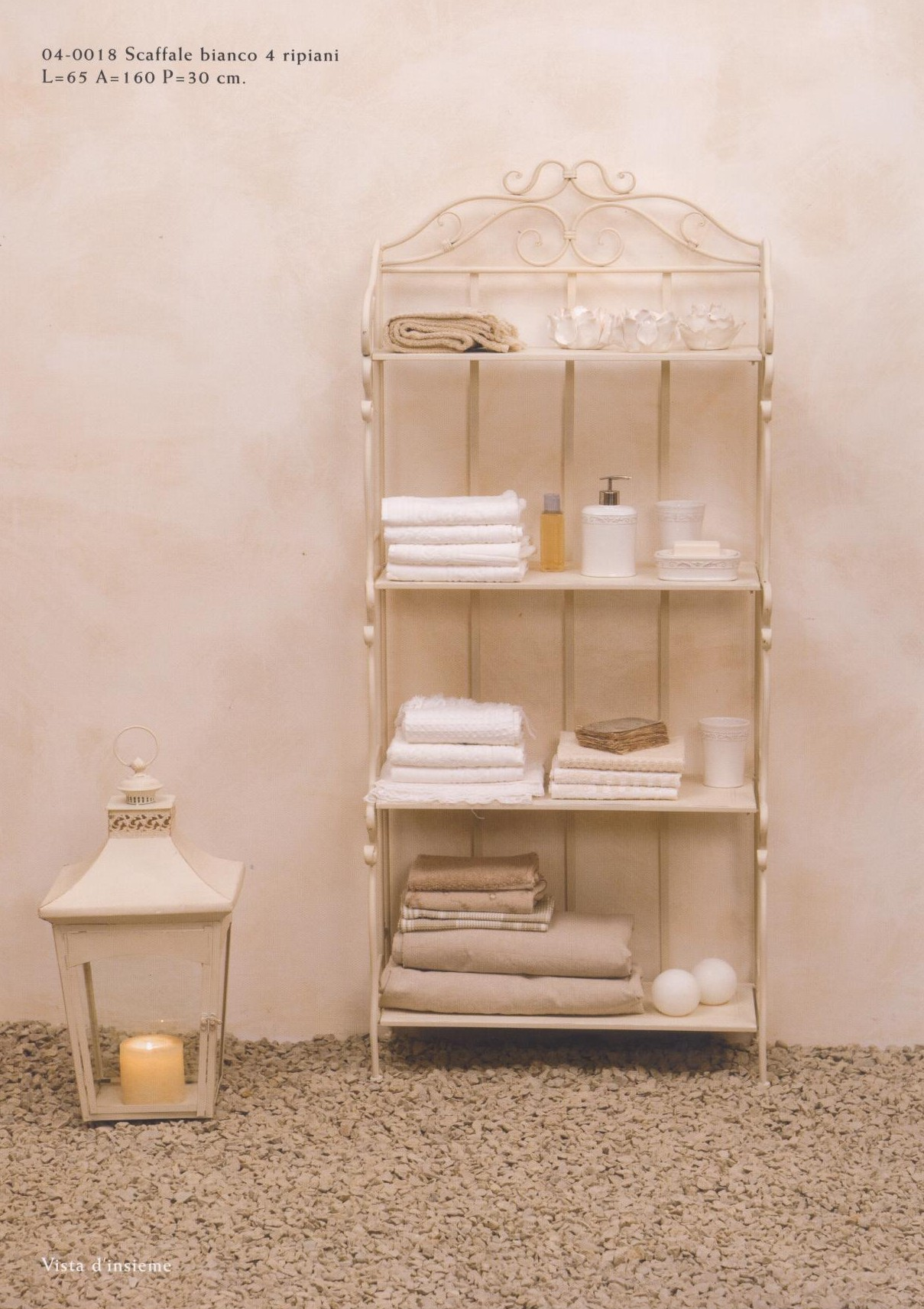 Scaffali mobili oggetti in ferro battuto hancock luxe for Complementi d arredo per bagno