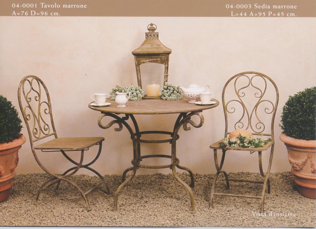 Tavolini sedute oggetti arredamento per esterno e for Sedie da giardino in ferro battuto